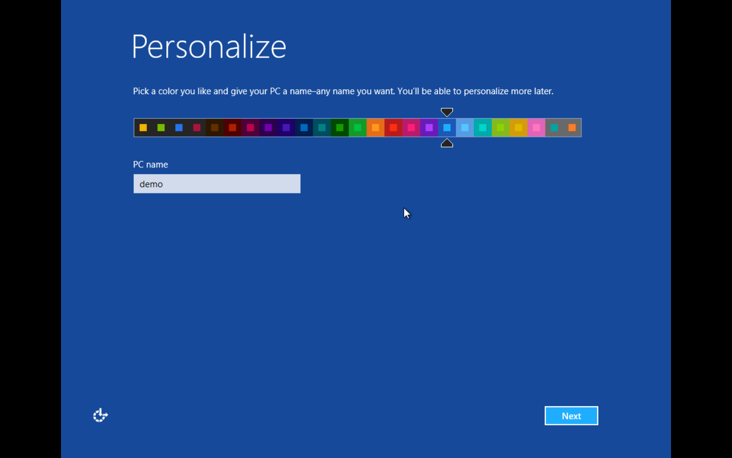 Personalization screen