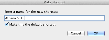 Make Shortcut window