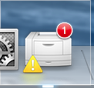 printer error icon in the dock