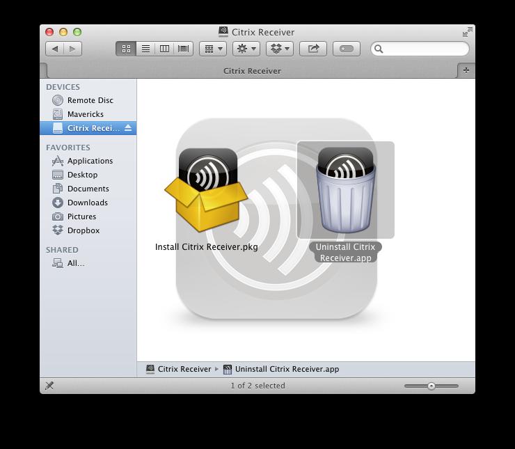 Receiver 12.9.1 for Mac - Citrix