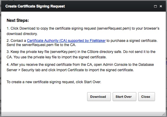 Create Certificate Signing Request Dialog #2