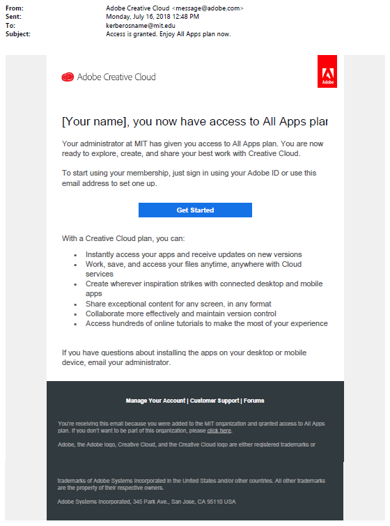 adobe creative cloud customer service