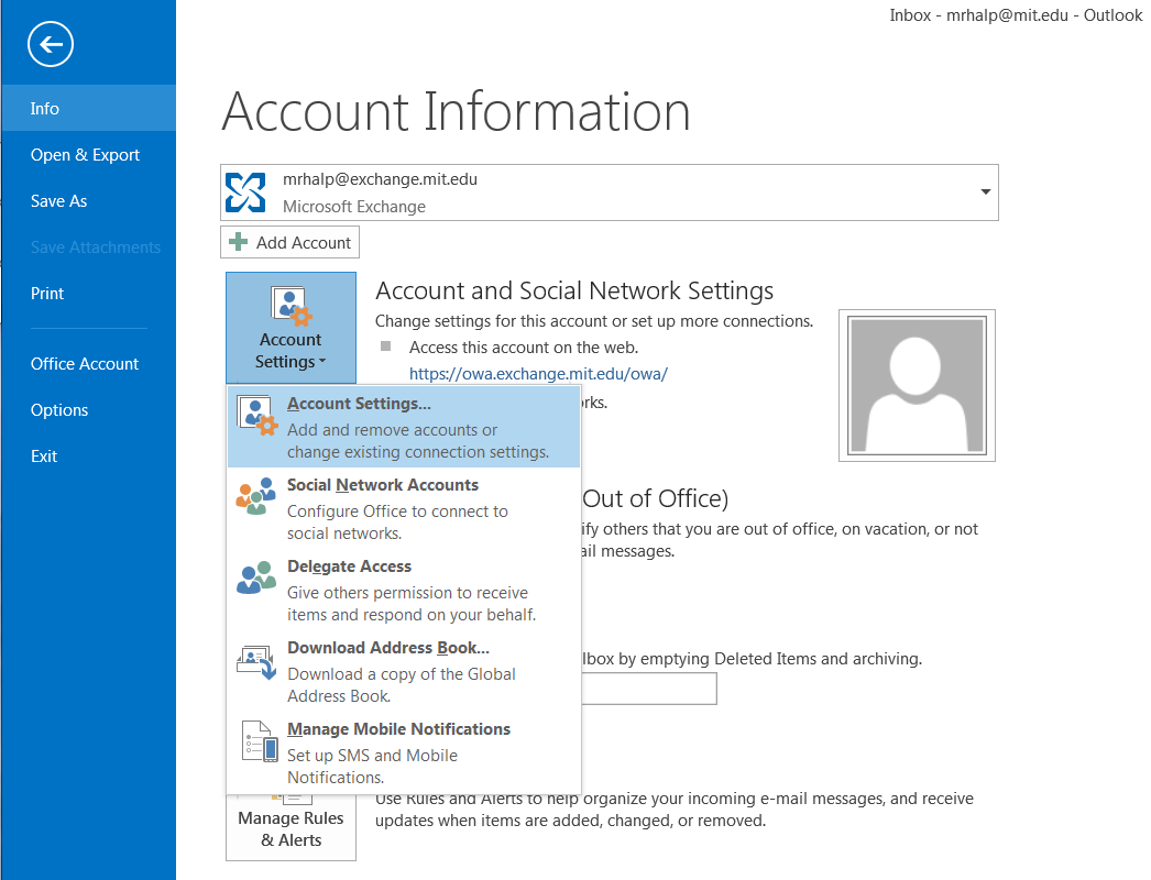 Screenshot 1 of Outlook 2013