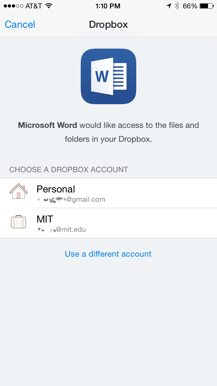 Authorize Access to Dropbox