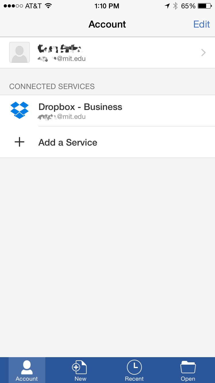 Dropbox added