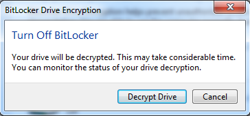 Click on Encrypt drive