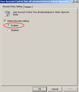 Enable User Account Control