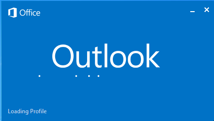 Outlook screen