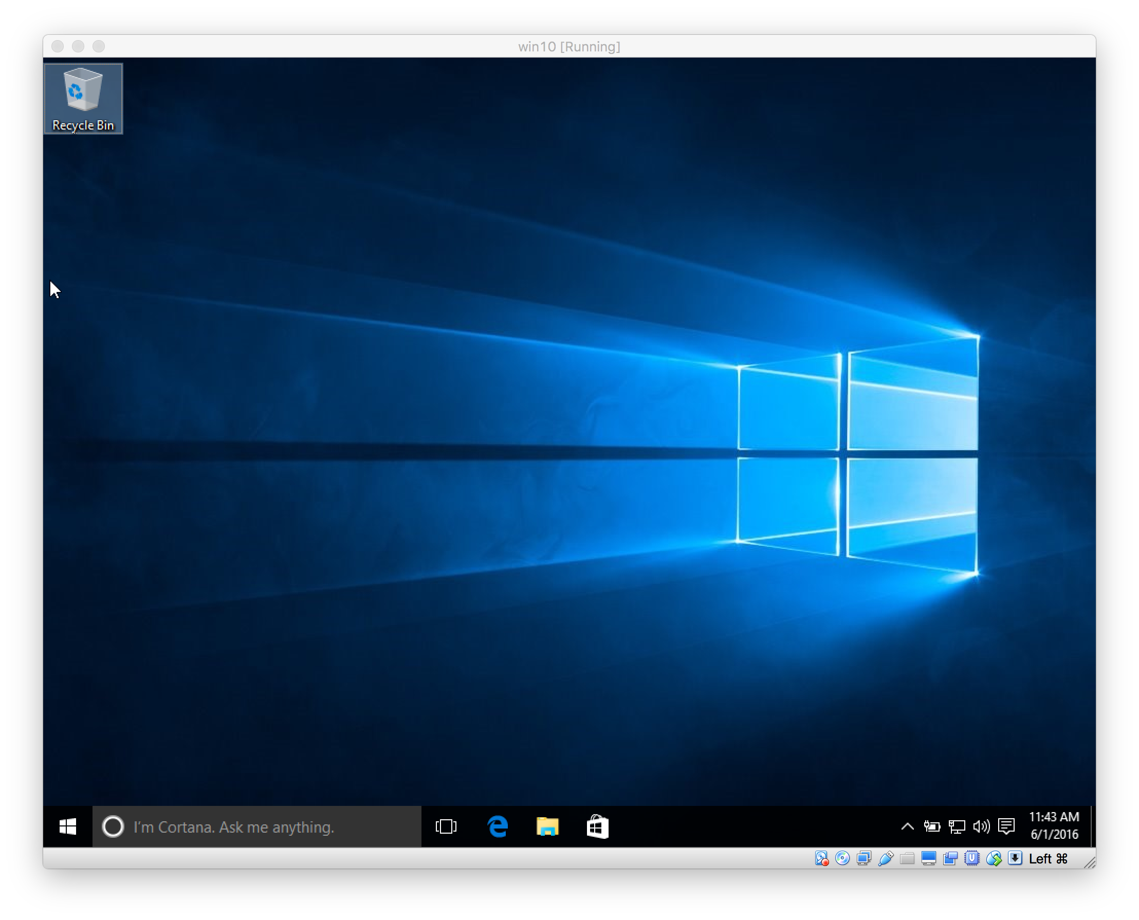 Windows 10 intro screen
