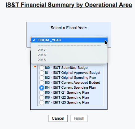 Enter Financial Summary info here