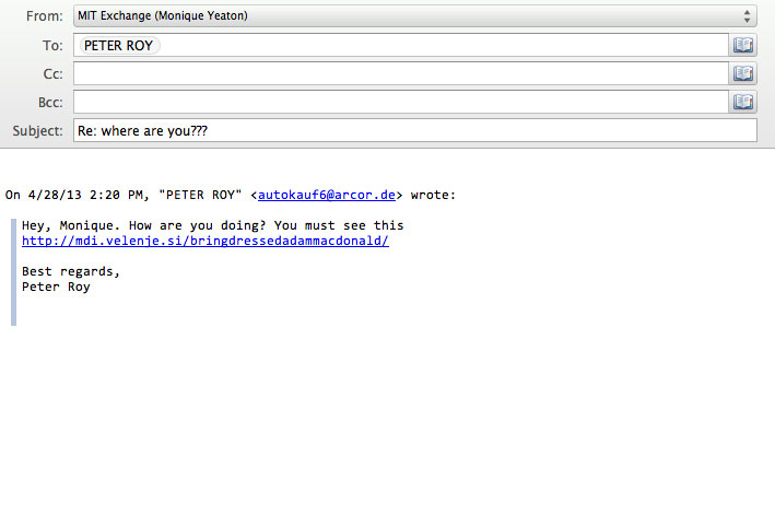 sample phishing email 2