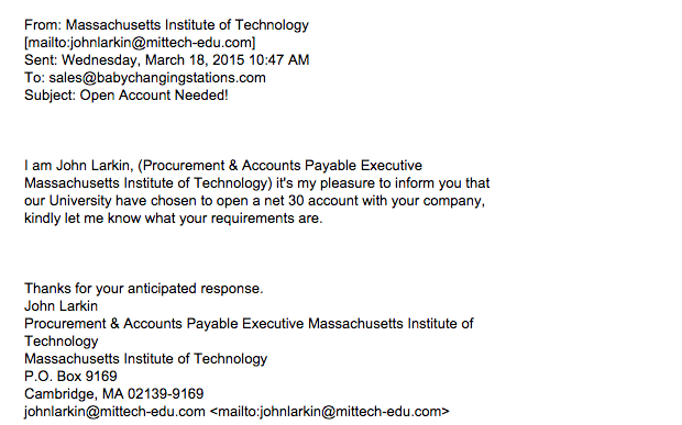 sample phishing email 3