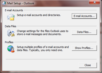 """Mail setup screen'"
