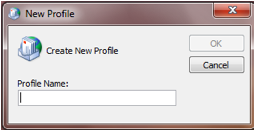 Create new profile window