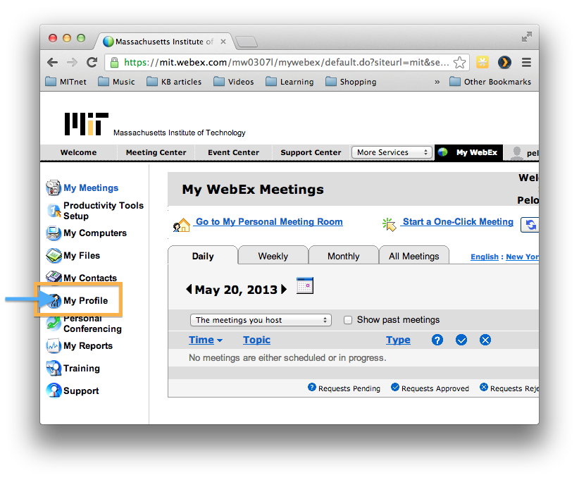 How do I set up a WebEx Personal Conference Number? - Hermes