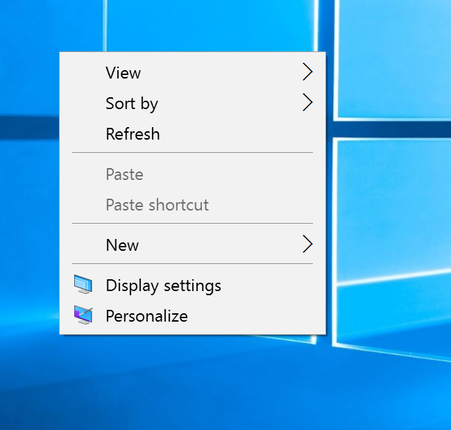right click and select display settings