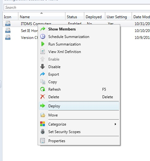 SCCM - Compliance Settings - Hermes