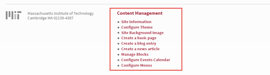 Content management links
