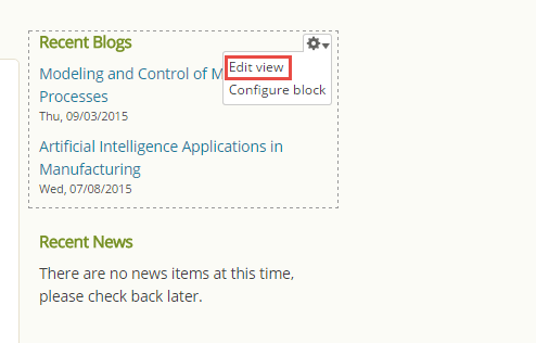 access blog view