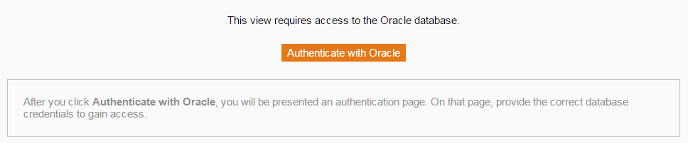 Oracle Authentication prompt