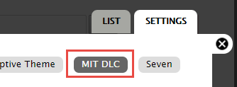 dlc settings tab