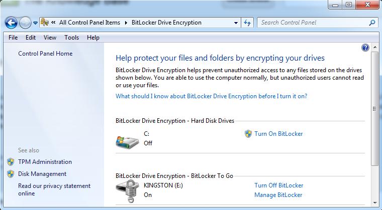 Copy of BitLocker To Go - 1 ) Encrypt external storage drive