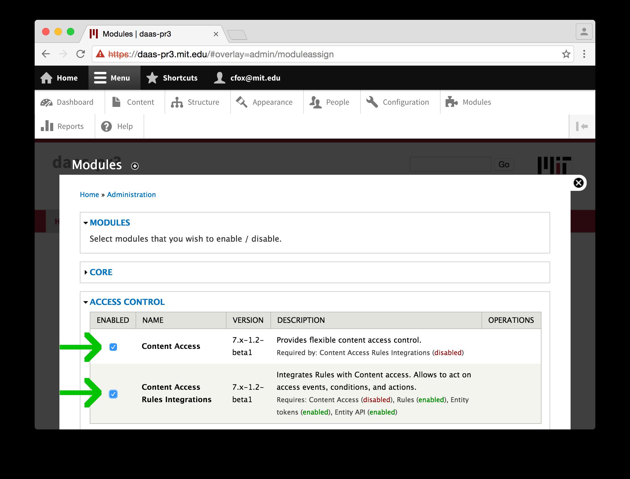 Using per-node Access Control on Drupal Cloud - Hermes